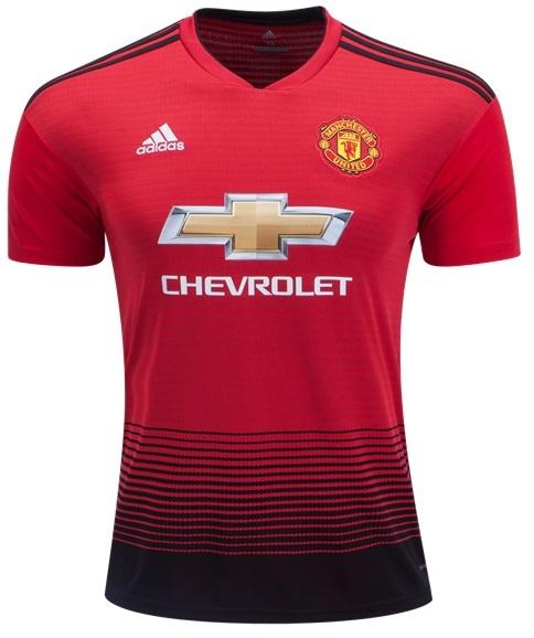Camisa do Manchester United - Home - 2018 / 2019 - Personalização e Frete Grátis