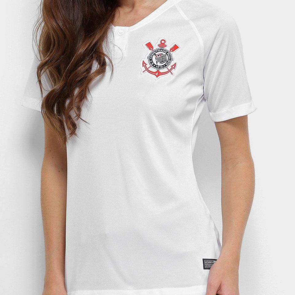 Camisa Baby Look Feminina do Corinthians - Home - 2018 - Personalização e  Frete Grátis 18fa6a9b56964
