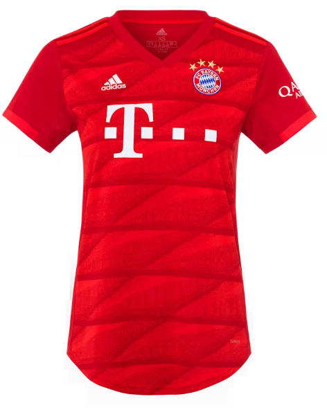 Camisa Baby Look Feminina do Bayern de Munique - Home - 2019 / 2020 - Personalização e Frete Grátis