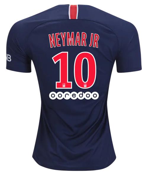 Camisa do Paris Saint Germain PSG da França - Home - 2018 / 2019 - Neymar Jr #10 - Frete Grátis