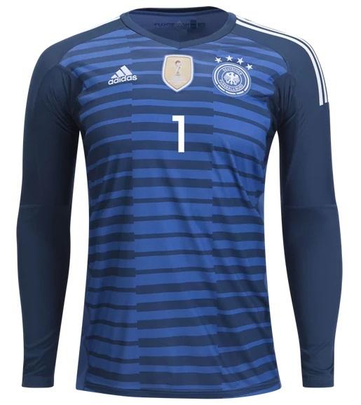 Camisa de Goleiro da Alemanha - Azul - 2018 - Personalização e Frete Grátis