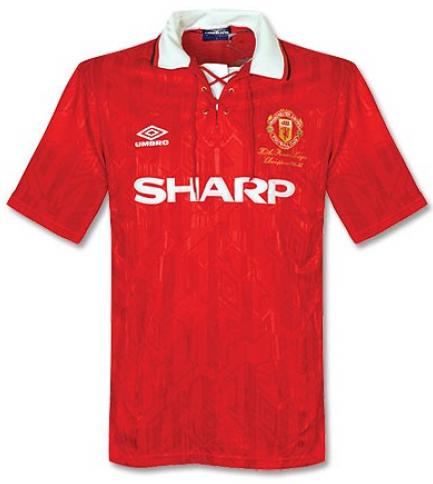 Camisa Retrô do Manchester United 1992 - 1994 - Home - Frete Grátis