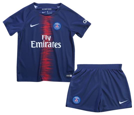 8a4174183 Uniforme Infantil do PSG da França Paris Saint Germain - Home - 2018   2019  - Uniforme Infantil do PSG da França Paris Saint Germain - Home - 2018    2019 -