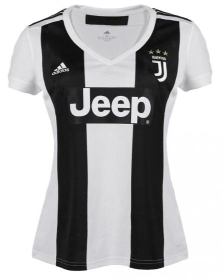 Camisa Baby Look Feminina da Juventus - Home - 2018 / 2019 - Personalização e Frete Grátis
