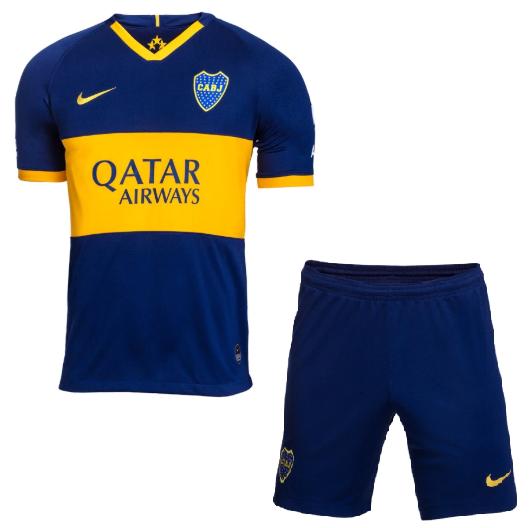 Uniforme Infantil do Boca Juniors - Home - 2019 / 2020 - Home - Personalização e Frete Grátis