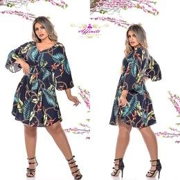 bd3600290 Vestido Graziela Cruzado Decote - Viscolycra - Affinité Boutique