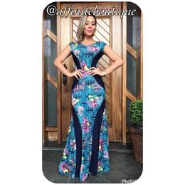 e9cc53021 Vestido Plus Size Detalhe Faixa Sereia - Várias Estampas - Affinité Boutique
