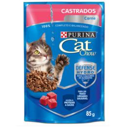 655aad3ae1bf5 Ração Nestlé Purina Cat Chow Castrados Sachê Carne ao Molho - 85g