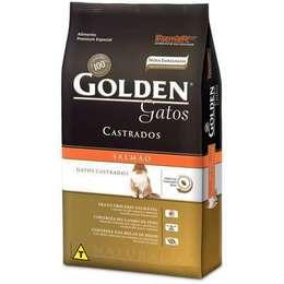 8e9af334dc260 Ração Golden Gatos Adultos Castrados Salmão 10