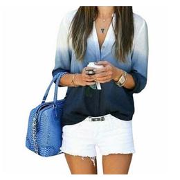 Camisa Degradê Gradient Azul ou Rosa FRETE GRÁTIS