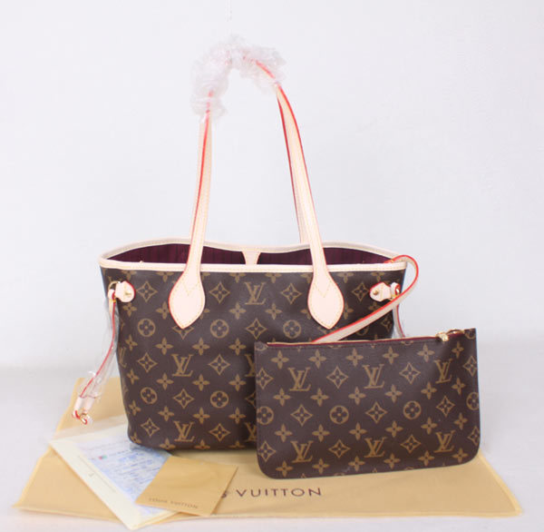 b4b0d3e65 Bolsa Louis Vuitton Monogram Canvas Neverfull PM Fuchsia - Vitrine ...