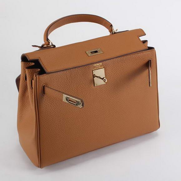 8b35a375c ... closeout bolsa hermès kelly 32cm caramel gold 53a89 b851d