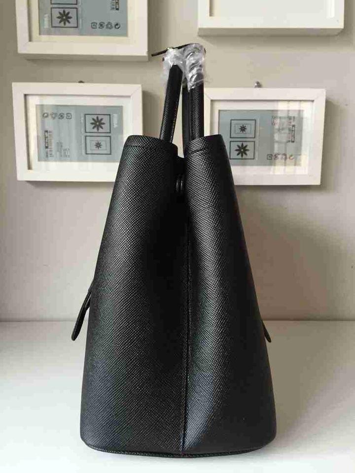 b34ca3154ac37a ... official store bolsa prada saffiano double tote black df9ed f8e77 ...