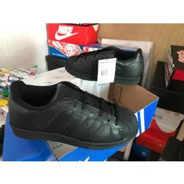 9b806d60c0b Tenis Adidas Superstar All Black Todo Preto