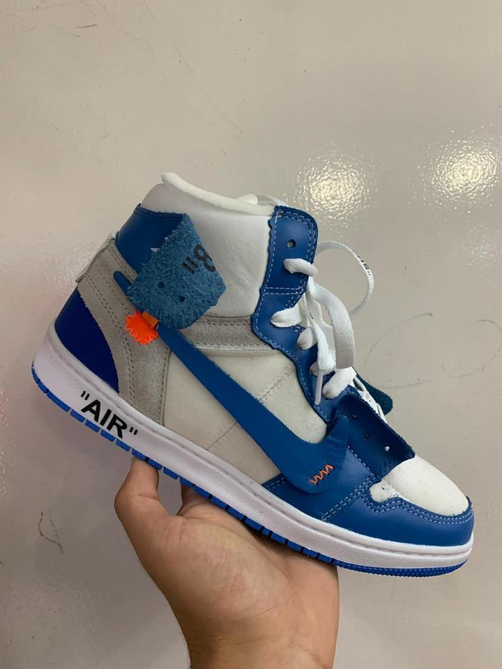 Claro White Off X Azul Nike Masculino Air Jordan dtsCQrh