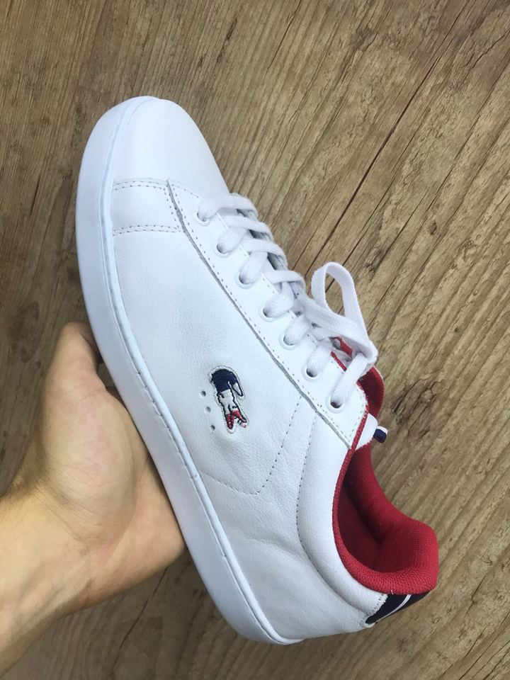 Sapatenis Lacoste França Couro Masculino - Mozarts Fitch Outlet ae2088bbbf