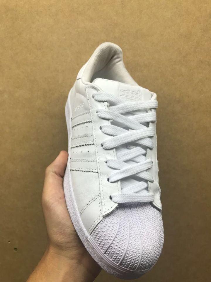 f275e9e7ab Tenis Adidas Superstar Todo Branco - Mozarts Fitch Outlet