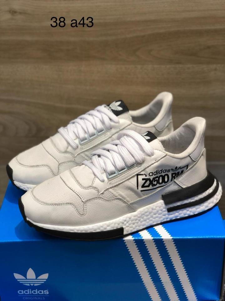 Tenis ZX 500 Branco Masculino - Mozarts Fitch Outlet ac0e13ac18
