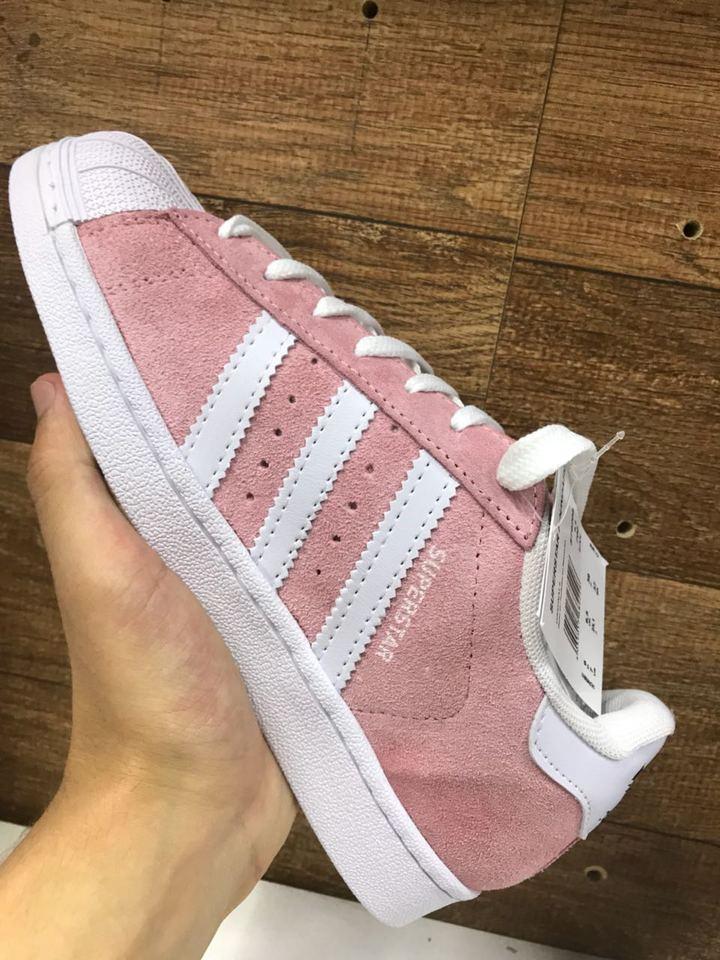 bb301e7c8c6 Adidas Superstar Rosa Camurça Feminino - Mozarts Fitch Outlet