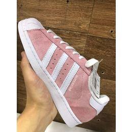 8a20f3608da Adidas Superstar Rosa Camurça Feminino