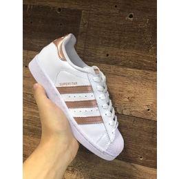 4974463ad Adidas Superstar Branco com Rose/Cobre - Mozarts Fitch Outlet