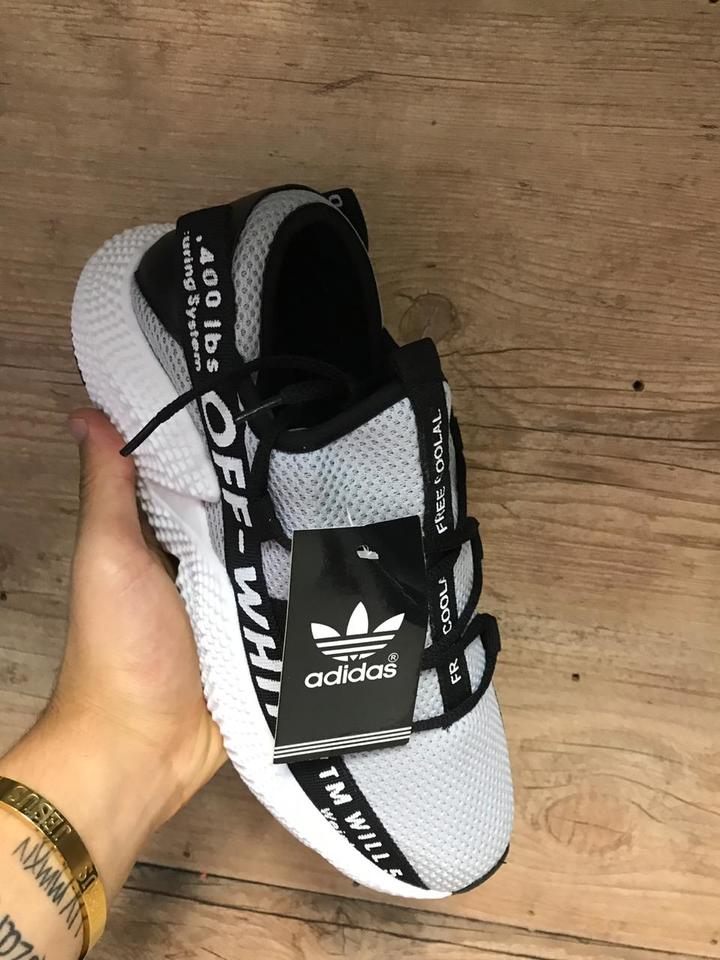 5aa560c5f8a Adidas Prophere off White Cinza Adidas Prophere off White Cinza