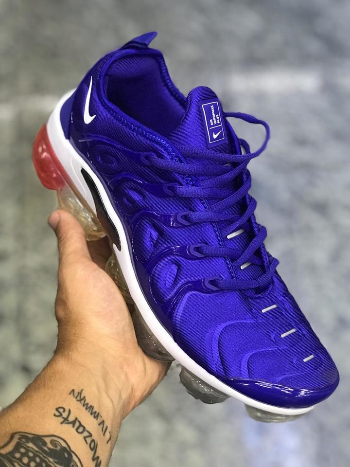 d331c33dc1 Nike Vapormax Plus Azul com Branco Masculino - Mozarts Fitch Outlet