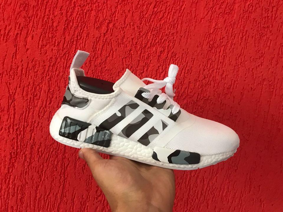 e8681bdfe67 Tenis Adidas Nmd Branco Uflado Zebra Importado Mozarts Fitch Outlet