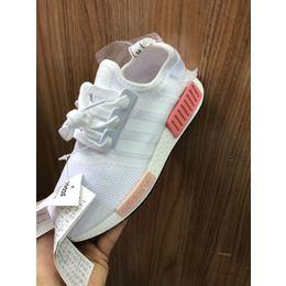 Tenis Adidas NMD Branco com Salmao 24bd664c07a6e