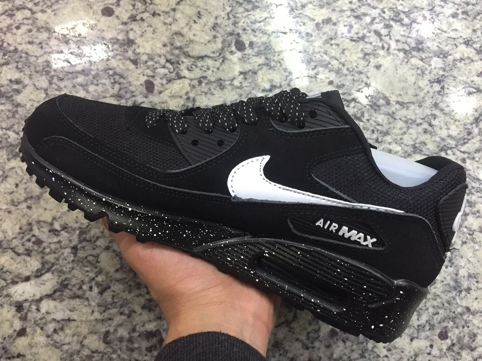 d2f8727c17c9c Tenis Nike Air Max 90 Preto Lunar - Mozarts Fitch Outlet