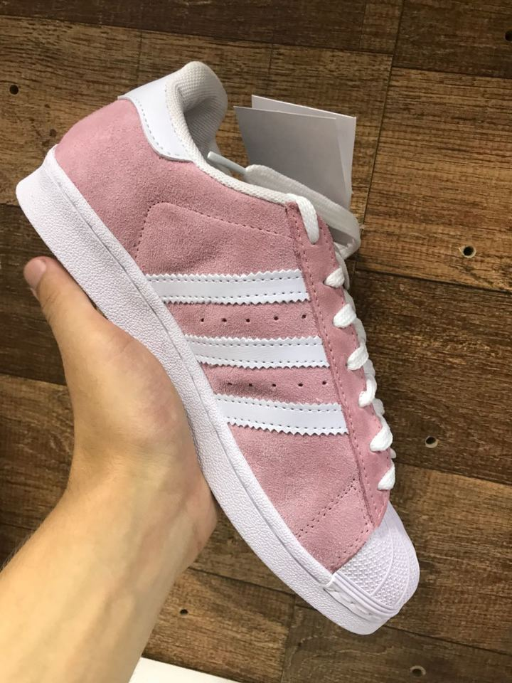 7ccad7eeedc Adidas Superstar Rosa Camurça Feminino - Mozarts Fitch Outlet