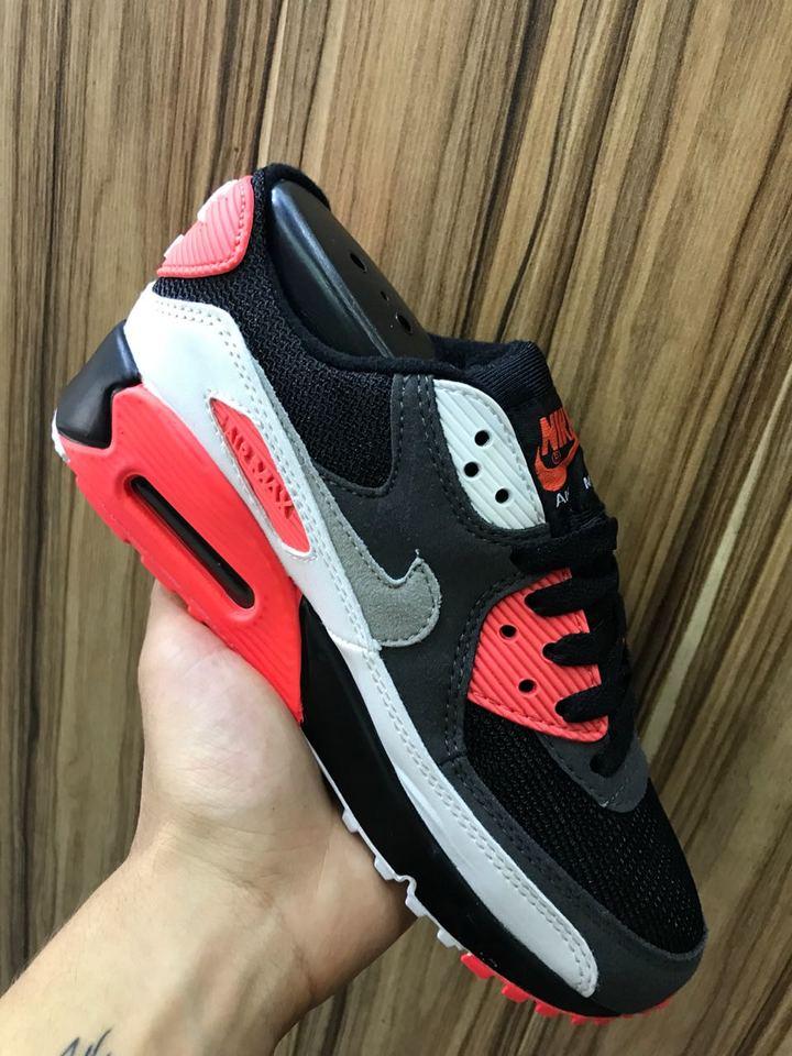 Nike Air Max 90 Preto Vermelho Masc Fem - Mozarts Fitch Outlet 6e0e391251d36