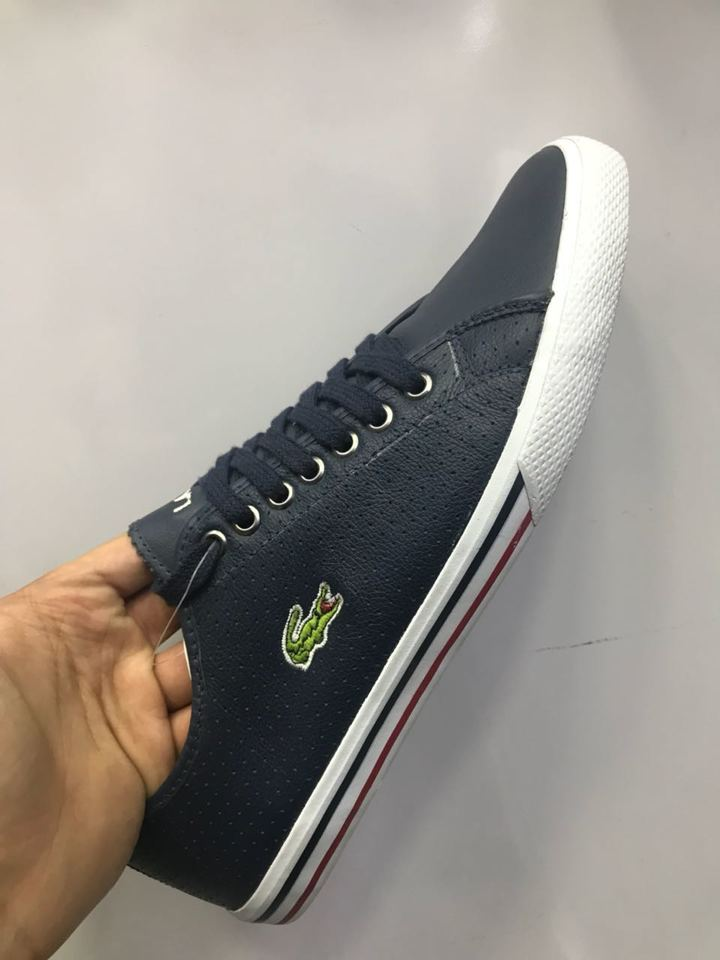 Sapatenis Lacoste Couro Furinhos - Mozarts Fitch Outlet 464dcbd870