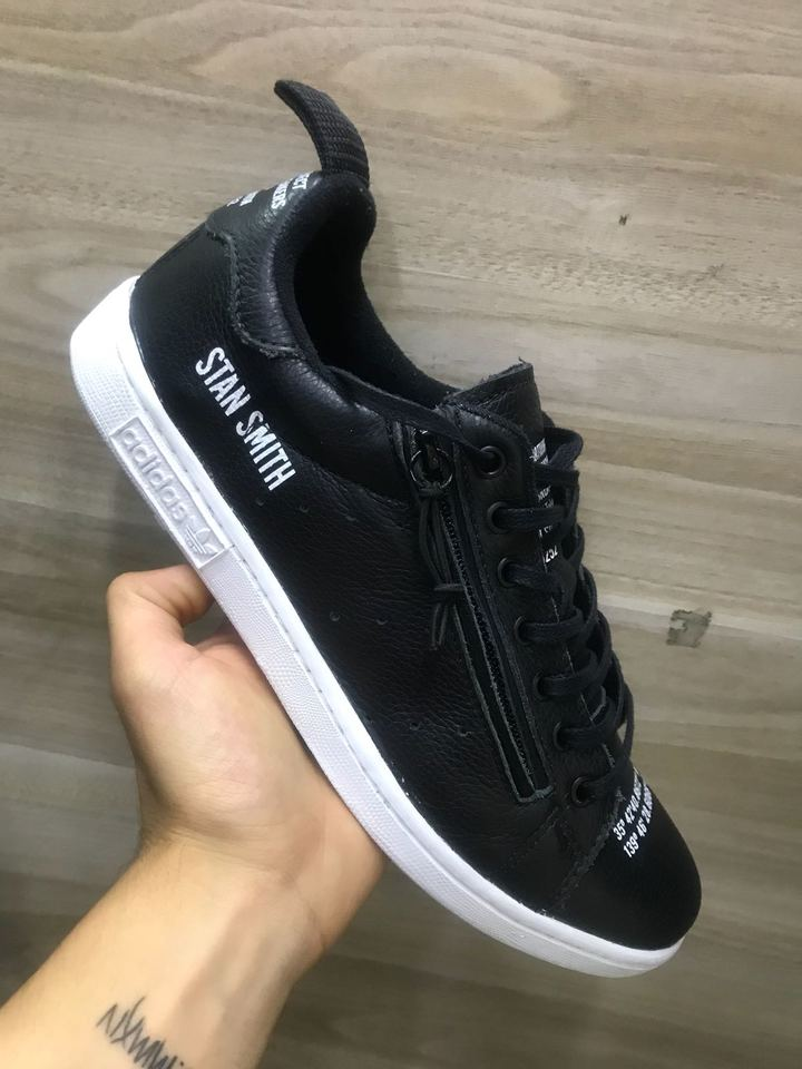 2b3cd156c Tenis Adidas Stan Smith Masculino Preto - Mozarts Fitch Outlet