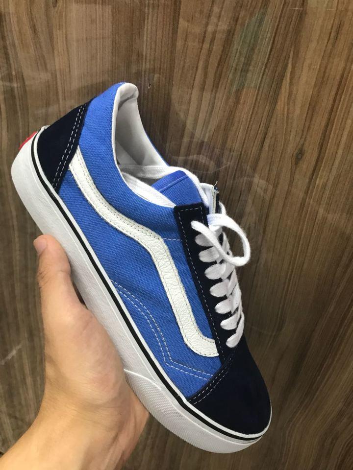 Vans old skool azul com preto Masculino - Mozarts Fitch Outlet 1b41a71cdb516