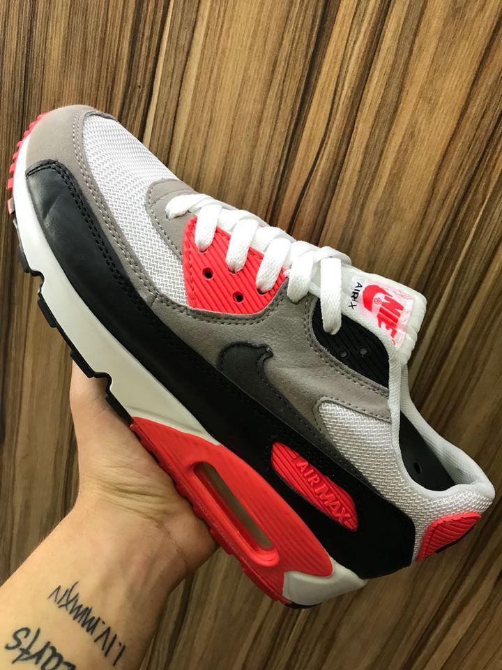 292765f0aa Nike Air Max 90 Masc Fem Cinza Laranja - Mozarts Fitch Outlet