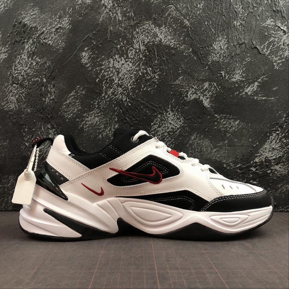 Nike M2k Tekno White Black University Red Mozarts Fitch Outlet