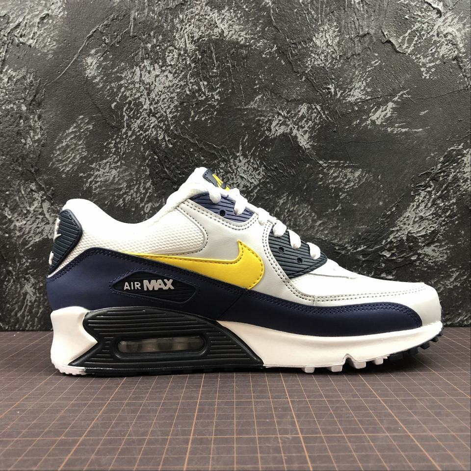 Nike Air Max 90 Essential White, Tour Yellow & Blue | END.