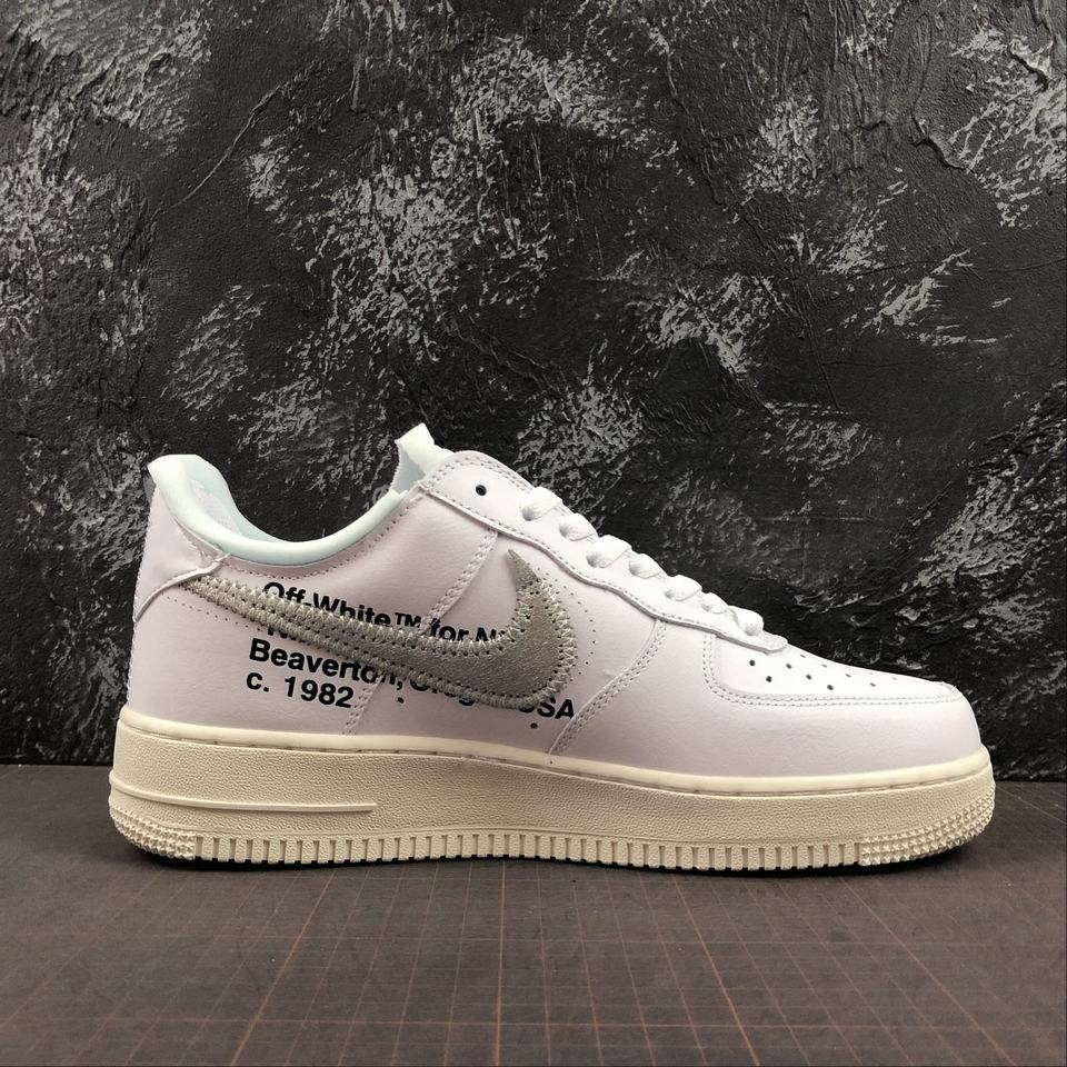 Nike Air Force 1 White Metallic Silver