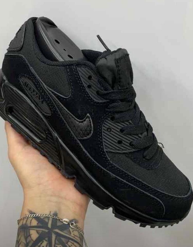 info for 3db77 db214 Nike Air Max 90 All Black Masc/Fem