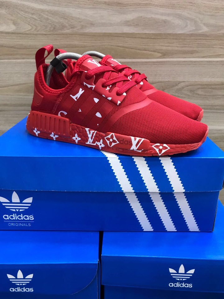 3a8913f564 Tenis Adidas NMD Masculino Louis Vuitton Vermelho - Mozarts Fitch Outlet