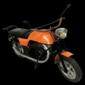 Pequena Motocicleta Modelo HONDA CG125 de Parque de Diversões, Original dos  Anos 1970