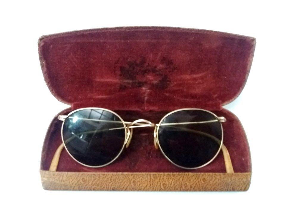 Óculos de Sol RAY BAN Bausch   Lomb B L em Ouro 12 k GF Anos 1940 ... 923bacd27c