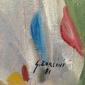 """Pintura Representado MODELO SE VESTINDO """" OLGA DE PALHAÇO"""" Assinada por GIANCARLO ZORLINI Obra Exposta no 45° Salão Paulista de Belas Artes, Datado de 1981"""
