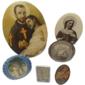 Lote de Placas RELIGIOSAS de Metal  Destaque para SÃO CAMILO DE LELLIS Originais de Meados do Século XX