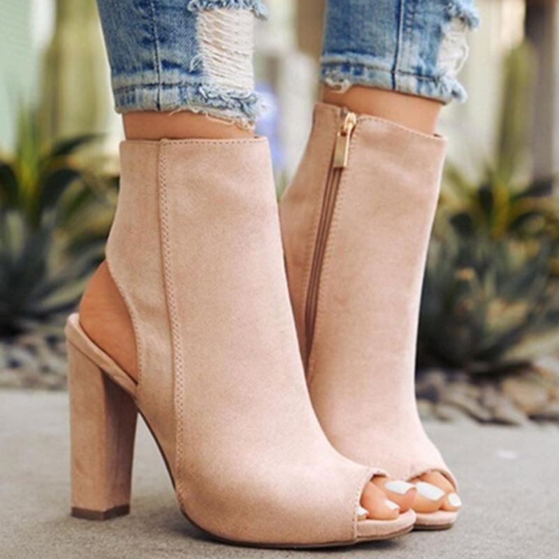 caa5519165 Ankle Boot Suede - EllaGlamour
