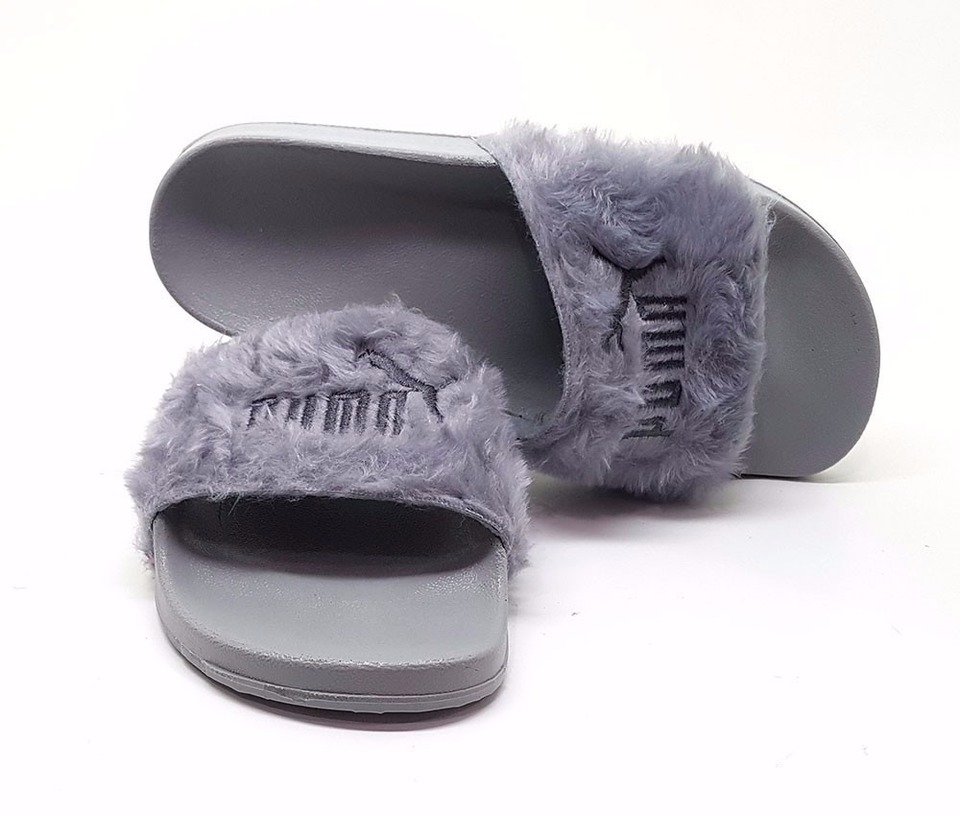 160868f56 ... Chinelo Puma Fenty Fur Slide By Rihanna
