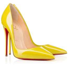 68a913b703 Scarpin Christian Louboutin Pigalle Light Yellow