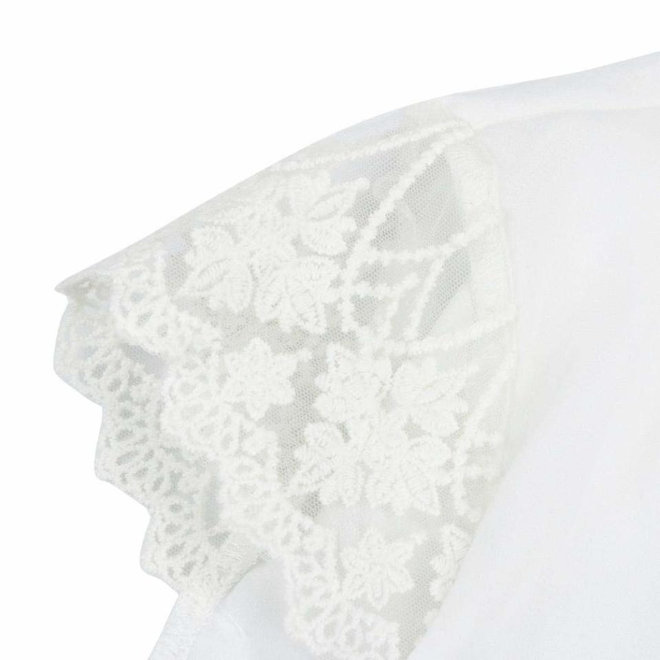 a04b213ef Blusa Chiffon Detalhe em Renda - EllaGlamour