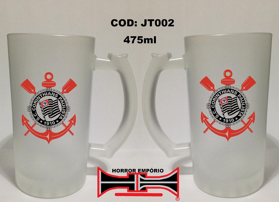 222f6a7069 Caneca chopp cerveja Corinthians escudo 475 ml - Horror Empório